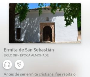 The hermitage of San Sebastian, a historic place in the center of Granada