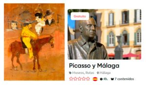 What was Picasso's first painting?
